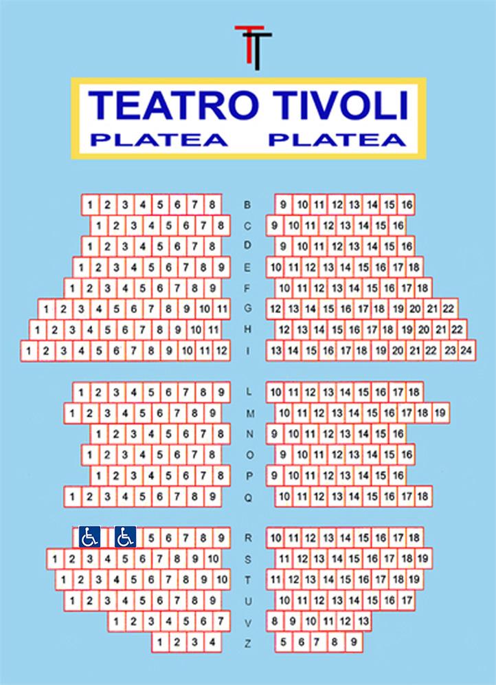 piantina sala Tivoli